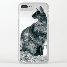 Oriental Cat Clear iPhone Case