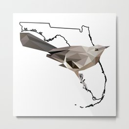 Florida – Northern Mockingbird Metal Print