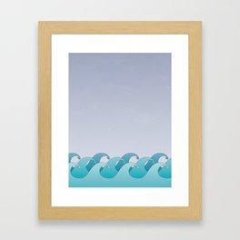 Waves in the Ocean Framed Art Print