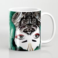 cyberpunk Mugs featuring Cyberpunk Kyoshi Warrior by SmidgenSpunks