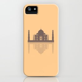 Taj Mahal - Minimalist Reflection - Orange  iPhone Case