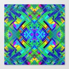 Colorful digital art splashing G476 Canvas Print
