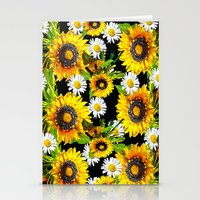 sunflowers Stationery Cards featuring Sunflowers by Saundra Myles