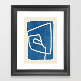 abstract minimal 57 Framed Art Print