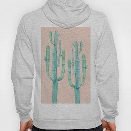 Besties Cactus Friends Turquoise + Coral Hoody