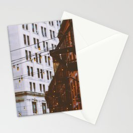 New York City Buildings and Lights (Color) Stationery Cards