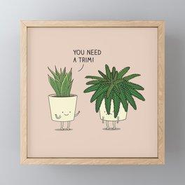 Plant talk Framed Mini Art Print