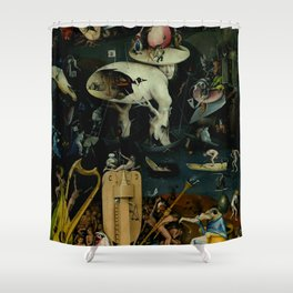 """Hieronymus Bosch """"The Garden of Earthly Delights"""" - Hell Shower Curtain"""