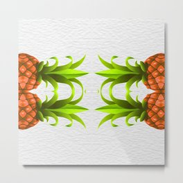 Tropical Pineapple Duo Metal Print