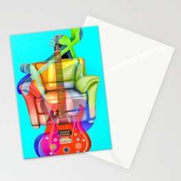 Play My Guitar Stationery Cards