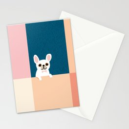 Little_French_Bulldog_Love_Minimalism_001 Stationery Cards