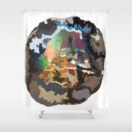 The Mountaineer Shower Curtain