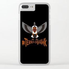 #TERRA-SQUAWK Clear iPhone Case