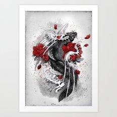 Black Koi Art Print