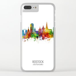 Rostock Germany Skyline Clear iPhone Case
