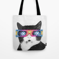 Laser Cat Tote Bag