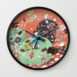 Amazing little girl Wall Clock