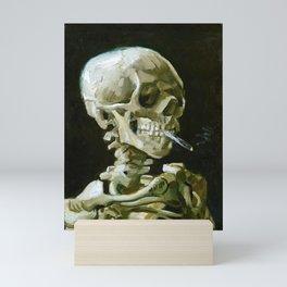 12,000pixel-500dpi - Vincent van Gogh - Head of a skeleton with a burning cigarette - Original white Mini Art Print