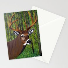 Buck by the forest Stationery Cards