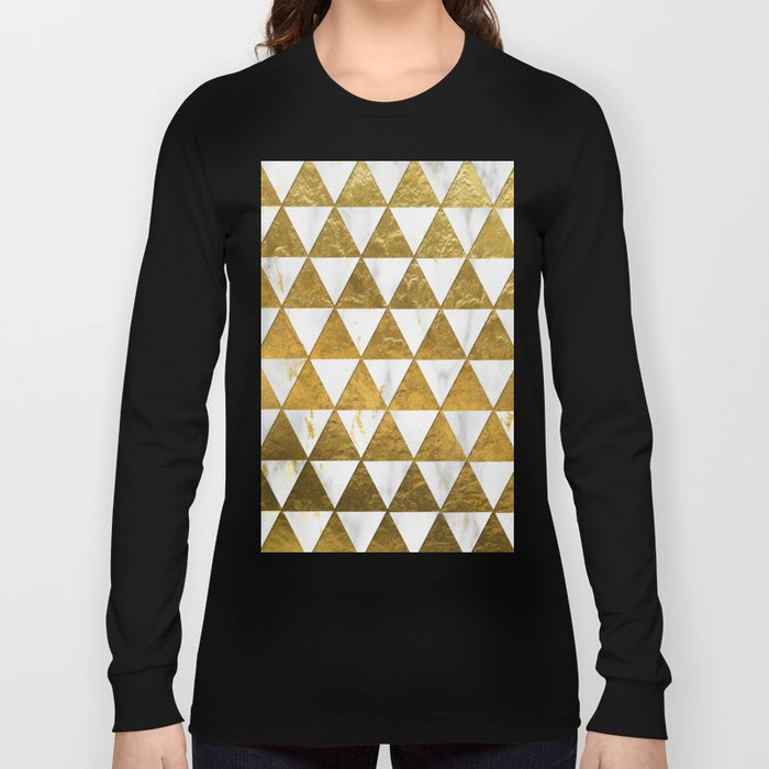 Marble and Gold Pattern #3 Long Sleeve T-shirt