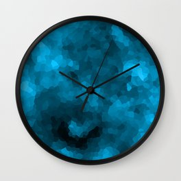 Blue abstract polygonal background Wall Clock