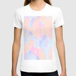 Pink & Blue Abstract Colors Collage T-shirt