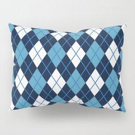 Blue White Argyle Pillow Sham