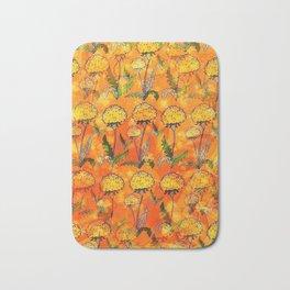 Dandelion Pop-Art by Nico Bielow Bath Mat