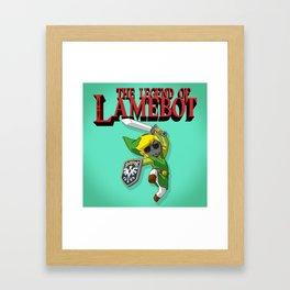 The Legend of LAMEBOT Framed Art Print