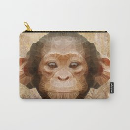 abstract baby chimpanzee Carry-All Pouch