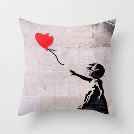 Banksy, Hope Throw Pillow