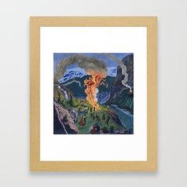 Astrup, Nikolai (1880-1928) Midsummer Night Bonfire Framed Art Print