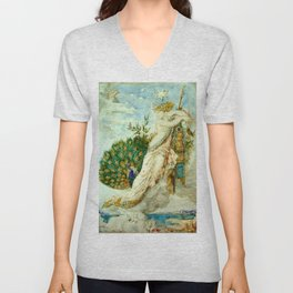 "Gustave Moreau ""The Peacock Complaining to Juno"" Unisex V-Neck"