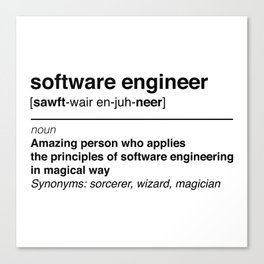 Software Engineer definition Canvas Print