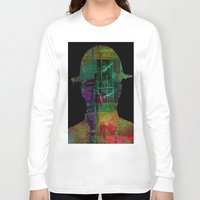 oil Long Sleeve T-shirts featuring oil worker by Joe Ganech
