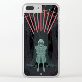 9 of Swords Clear iPhone Case