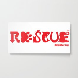 Rescue Red Metal Print