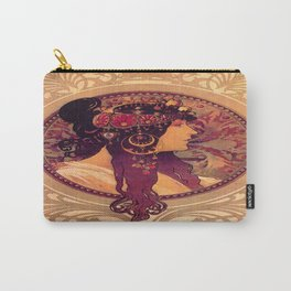 Alphonse Mucha Illustration Carry-All Pouch