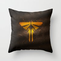 the last of us Throw Pillows featuring The Last of Us by Smorgashborg