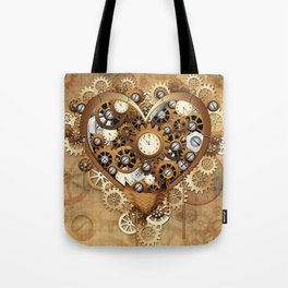 Steampunk Heart Love Tote Bag