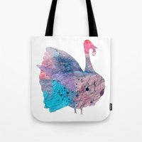 turkey Tote Bags featuring turkey by Lucy Feebs