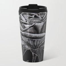 Silver Rose Metal Travel Mug