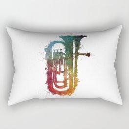 euphonium music art Rectangular Pillow