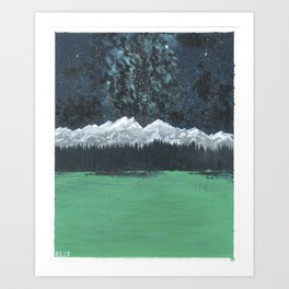 Milky Way Over Mountains #1 Art Print