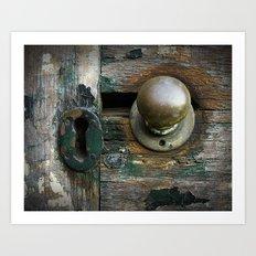 aging door. Art Print