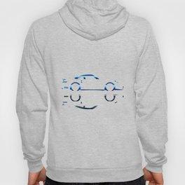 Blue Flash Fast Car Hoody