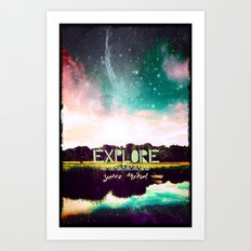 Explore your mind - for iphone Art Print