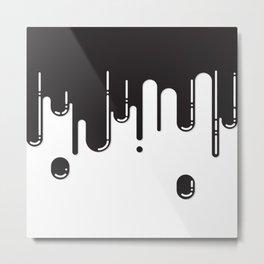 Melting black stuff Metal Print