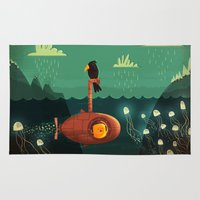 yellow submarine Area & Throw Rugs featuring Submarine by Ilias Sounas