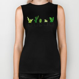 Friendly family of succulents Biker Tank